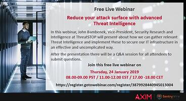 Axim & ThreatSTOP Live Webcast: January 24. John Bambenek Talks Reducing Your Attack Surface with Threat Intelligence
