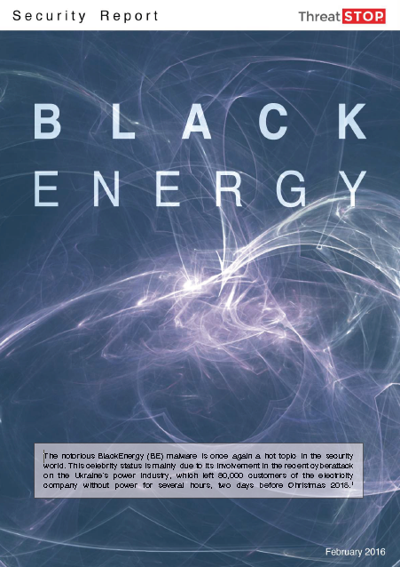 ThreatSTOP Report: BlackEnergy
