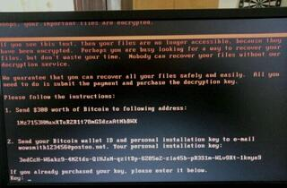 NotPetya Ransom Message